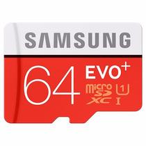 Cartão Samsung Micro Sdxc Evo Plus+ 64gb 80mb/s Uhs-1 Sd