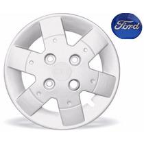 Jogo Calotas Ford Ka Fiesta Courier 02/.. Aro 13 Com Emblema