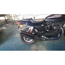 Ponteira Esportiva Harley Sportster Xr1200x Black 3pol.