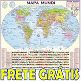 Mapa Mundi Politico Atualizado Gigante 2019 + Frete Grátis!