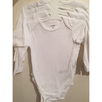 Body Bebe - Carter´s - Branco - Manga Comprida - 6 Meses