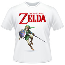 Camiseta The Legend Of Zelda Link Nintendo Game Camisa