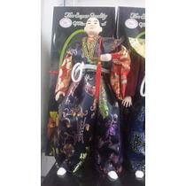 Boneco Samurai Guerreiro Japones Oriental Decoração