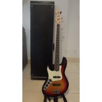 Baixo Fender Usa Jazz Bass American Delux Canhoto 4 Cordas