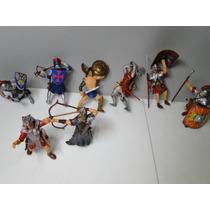 08 Soldados Romanos Gladiadores Arqueiros Com 10 Cm Altura