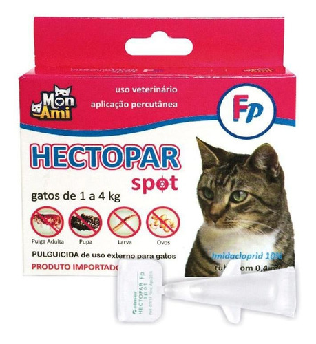 Antipulgas Hectopar Gatos 0,4ml Mon Ami