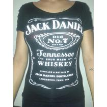 Blusa Jack Daniels Baby Look Navalhada