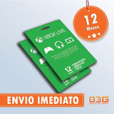 Xbox Live Gold 12 Meses Xbox One E 360 - Cartão 25 Dígitos