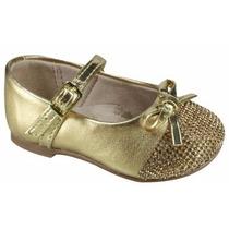 Sapatilha Molekinha Baby Infantil Menina - 2106134 Dourado