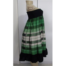 Vestido Saia Xadrez Feminino Tam.médio S/strech Importado S6