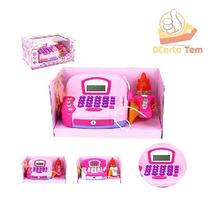 Máquina Registradora Infantil Com Luz E Som + Microfone
