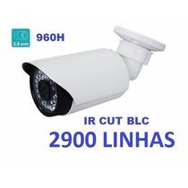 Câmera 2900 Linhas Infravermelho 960h Ir Cut E Blc 50mts