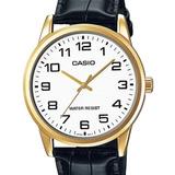 Relogio Casio Masculino Collection Couro - Mtp-v001gl-7budf