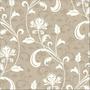 Papel De Parede Floral Bege/ Cack Autocolante 3m - 768