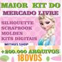 +22000 Arquivo Silhouette Studio + Dvd Mega Kit Scrapbook