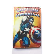 Capa Para Tablet 7 Polegadas Capitão América, Hulk, Ben 10