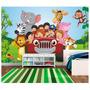 Papel De Parede Infantil Safari Animais Zoo Adesivo M50