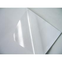 Adesivo Vinil A4 Transparente Impressora Jato Tinta C/ 100