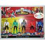 Kit Power Rangers Samurai 5 Personagens + Acessórios