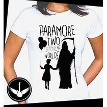 Camiseta Paramore Baby Look Regata Banda Rock Blusa Camisa