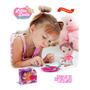 Boneca Bebe Little Dolls Papinha C/ Colher, Garfo, Pratinho