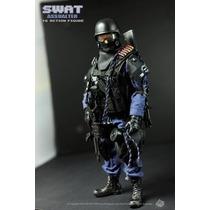 Boneco Soldado Militar Swat Força Especial Policia Americana