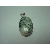 Pingente Feminino Pra Colar Pedra Natural Opala Musgo