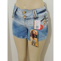 Shorts Afront Jeans Levanta Bumbum Estilo Pitbull