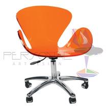 Cadeira Acrílica Swan Base Office - Loja Tim/azul Bic