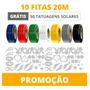 10 Fitas Para Bronze 20m Decorlux + 50 Tatuagens Solares