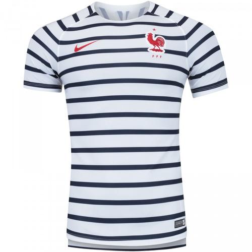 Camisa Da França Original Nova Seleção Francesa Branca Azul c983c3ee72711