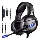 Cic Fone De Ouvido Onikuma K5 Headset Gamer 7.1 Surround  Microfone Compatível Com Ps4 Xbox One Pc Com Led