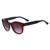 Óculos De Sol Calvin Klein Vinho Translúcido Haste Preta
