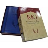 Bíblia De Estudo King James Fiel 1611 - Estudos Holman Azul