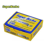 Lâmina Inox Barbear 1/2 Super Barba 10 Caixas 1.000 Peças