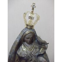 B. Antigo - Suntuosa Coroa Sacra Em Metal Dourado