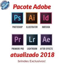 Pacote Adobe Premiere Photoshop Illustrator Lightoom E Etc