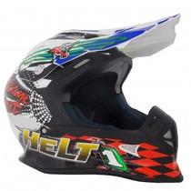 Capacete Motocross Trilha Helt Modelo Mx Bull Lançamento
