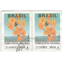 Selo Brasil Tarifa Postal Nacional - 2º Porte - Dupla - Q8