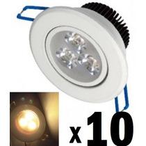 10 Spot Led Branco Luz Quente Direcionável 3w Sanca Gesso