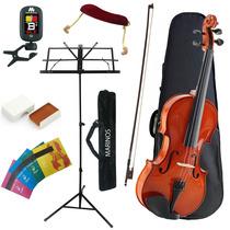 Violino Marinos 3/4 Kit Partitura Afinador Espaleira Cordas