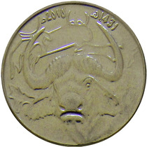 Argélia - 1 Dinar 2010 (búfalo)