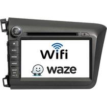 Kit Multimídia Honda Civic 2012 A 2014 Gps / Tv Wi-fi
