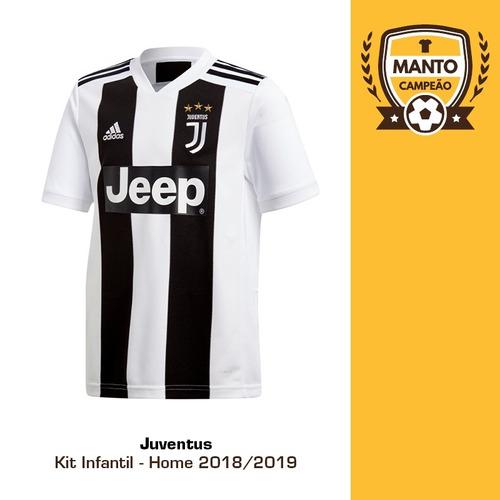 0decf47e9b Kit Infantil Juventus 2018 2019 Home Uniforme 1 Ronaldo