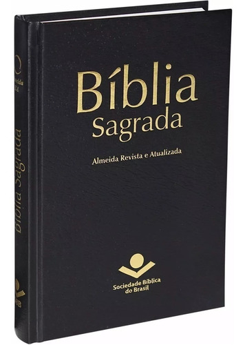 Bíblia Sagrada Almeida Revista E Atualizada Capa Dura Preta