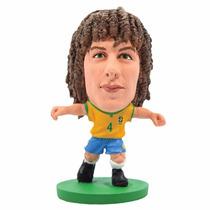 Minicraque David Luiz N04 Original Cbf Miniatura Boneco Copa