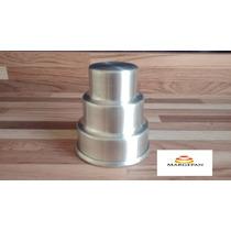 Forminhas Para Mini Bolos E Pão De Mel 3 Andares Em Alumínio