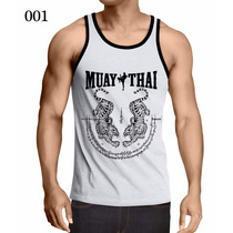 Camiseta Regata Muay Thai Mma Ufc Academia Treino Fitness