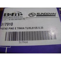 Kit Pistão E Anéis Imp Honda Turuna/xls125 0,25mm