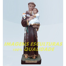 Escultura Santo Antonio Linda Imagem 20cm Promoção Fabrica